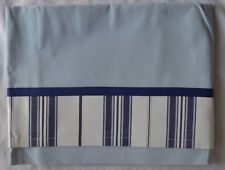 Pottery Barn Kids Chase Nautical stripe blue white lined window curtain vallance
