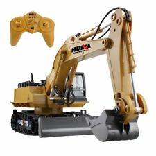 Remote Control Excavator RC Tractor Bulldozer Crawler Truck Toy Metal Digger Car