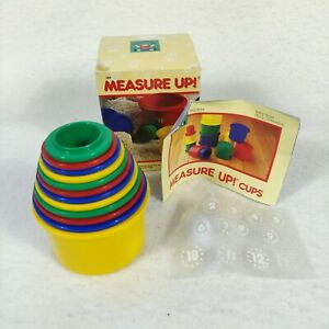 Discovery Toys Measure UP Cups Educational Stacking Nesting 12 Piece Number Colo
