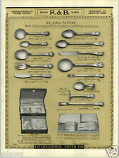 1923 PAPER AD 2 Sided Rogers & Bro R&B A-1 Silverware Jewel Design Pattern