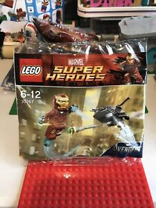 Lego Marvel Super Heroes Avengers Iron Man Polybag 30167 - Brand New And Sealed