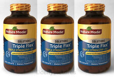 (3) Bottles of Nature Made Triple Flex 200 Caplets Each - 600 Total - New Sealed