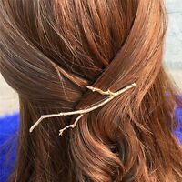 Women Bobby Pins 2PCS Simple Design Wedding Hair Jewelry Metal Leaf Hairpins
