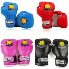 4oz PU Kids Boxing Gloves Children Cartoon MMA Sparring Training Gloves 5-10 Age