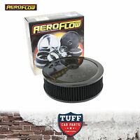 """Aeroflow Black Air Cleaner Assembly 9"""" x 2-3/4"""" with Washable Filter Element New"""