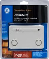 Wireless Alarm System Alarm Siren Home House GE Choice Alert Alarm Siren NEW