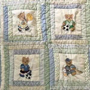 Homemade Teddy Bear Football Baseball Soccer Basketball Golf Boy Quilt  Sports