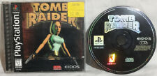 * Tomb Raider Sony Playstation Ps1 1996 Complete Original Black Label *