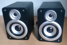 Micro Mini HiFi Compact Stereo Bookshelf Speakers 40WATT Pair BLACK (2 x 20W)