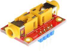 3.5mm stereo audio jack to 3.5mm stereo audio jack pass through adapter breakout