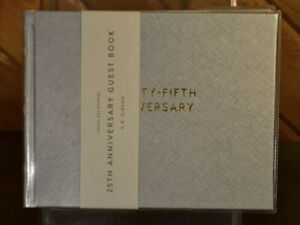C.R. Gibson 25th Anniversary Guest Book 800 Entries Hardcover NEW NWT Silver