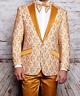 Men Insomnia Manzini Blazer Stage Performer Singer Prom MZN139 Gold Lace Model
