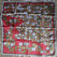 1960's Silk Floral Vera Neumann Ladybug Scarf (26 x 26)
