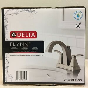 Delta 25768LF-SS Flynn Brushed Nickel Two Handle Lavatory Faucet 4 in