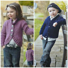 KNITTING PATTERN Childrens Long Sleeve Bolero & Cardigan with Cables Chunky 4284