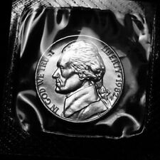 1982 P Jefferson Nickel ~ Uncirculated from Souvenir Mint Set in Mint Cellophane