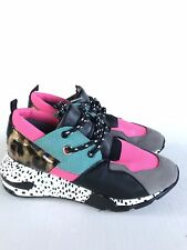 0ec165a0fa6 Steve Madden Women s Cliff Sneaker 8.5 Multi Bright Animal Print