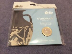 WEDGWOOD 2019 UK £2 BU TWO POUND Coin ROYAL MINT Sealed Pack