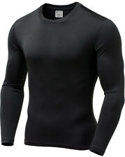 Mens Ultra Soft Fleece Lined Thermal Shirt - Compression Baselayer Crew Neck Top