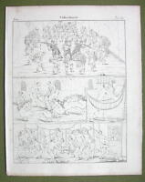 SOUTH AMERICA Indians Panama Karaibs Brazil - 1825 Antique Print Engraving
