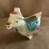Shawnee Duck Art Pottery Vintage creamer pitcher green Spaulding figural