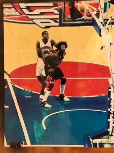 chris webber & ben wallace original 8x10 photo. Detroit Pistons 2007 game.