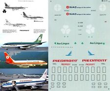 MICROSCALE DECALS 1/144 Boeing 737 (Aer Lingus/NAC/Piedmont Airlines)