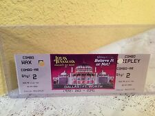 """RIPLEY'S BELIEVE IT OR NOT & LUIS TUSSAUD'S PALACE OF WAX """"USED"""" TICKET SOUVENIR"""