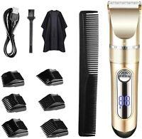 Cortar el pelo Pantalla LED recargable inalámbrica para cortapelos con 6 peines