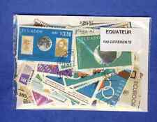 Equateur - Ecuador 100 timbres différents oblitérés