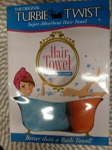 TURBIE TWIST~~SUPER-ABSORBENT~~TWIST & LOOP~~2 PACK BLUE & ORANGE TOWLELS