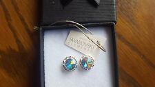 Genuine Swarovski Elements 13mm AB Crystal Stud Earrings Gift Bag