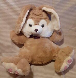 "Vintage Dan Dee Rabbit Light Brown - 39"" from tip of ears to tip of toes"