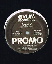 """ALEXKID On My Mind 12"""" PROMO VINYL Llorca Rmx OVUM US 2000 OVM133 w/ Promo Sheet"""