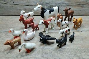 PLAYMOBIL® Wild Tiere Bauernhof Animals Wild Life Ziege Schweine Hund Katze Kuh