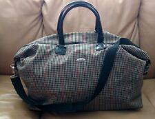 Diane Von Furstenberg Large Weekender Overnight Travel Duffle Bag Luggage Plaid