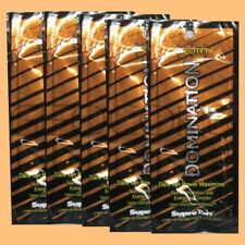 5 Supre Domination Sport Dark Maximizer Packet Tanning Bed Lotion Sample