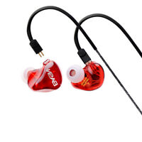 BASN Professional Headphoens with Mic Stereo Surround Sound Double Driver Earbud