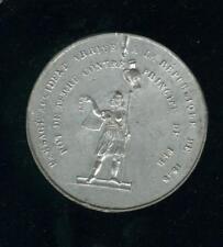 "Großartig Medaille 1848 Zinn "" Topf Kartoffel Gegen Prinzip Bügeleisen "" 48mm"