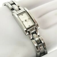 Fossil F2ES-9839 Stainless Steel Quartz Analog Ladies Watch quick snap link EUC