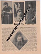 Festspiele Bayreuth 1904 4-seitiger Bildbericht von 1904 Bayreuther Festspiele