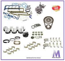 GM Chevy 307 V8 5.0 Marine Engine Overhaul Rebuild Kit Oil Pump Pistons REV ROT