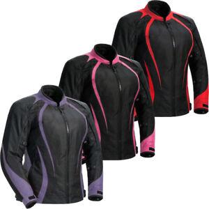Ladies textile motorcycle jacket armour waterproof Cordura Biker Textile Jacket
