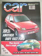 Car Jan 1990 Ford Fiesta XR2i, BMW 520i vs Citroen XM vs Lancia Thema