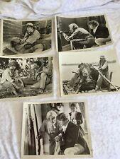 5 x VINTAGE MID CENTURY 1974 MOVIE HUCKLEBERRY FINN BLACK & WHITE PHOTOS