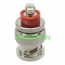 Adapter BNC Female Jack to SMA Male Plug Gold Plated Straight RF Coaxial 10 Pcs