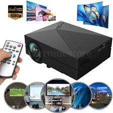 Mini Full HD 1080P 1000Lúmenes Proyector LED Cine Cinema Theater USB WAV AV TXT