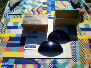 NOS MIB vtg WW2 Hughes dim-out shields & display box; ideal blackout 42 trim car
