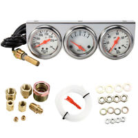 Universal 52mm 3 in 1 Car Water Temp Voltage Oil Pressure Gauge Triple Meter Kit