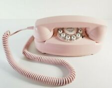 Crosley Princess Desk Phone Faux Rotary Push Button Pink CR-59 Tested